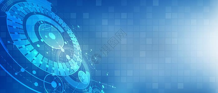 蓝色机械科技背景图片