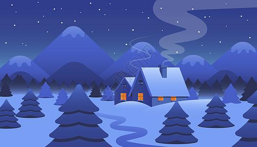 下雪夜晚背景图片
