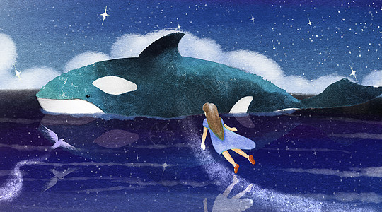 少女与鲸鱼图片
