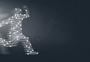 奔跑的人线条科技背景图片