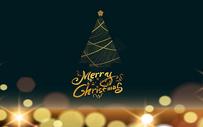 金色圣诞背景图片