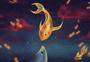 金鱼与鲸插画图片