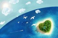 爱心岛屿图片