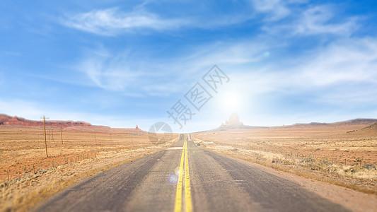 远方道路背景图片