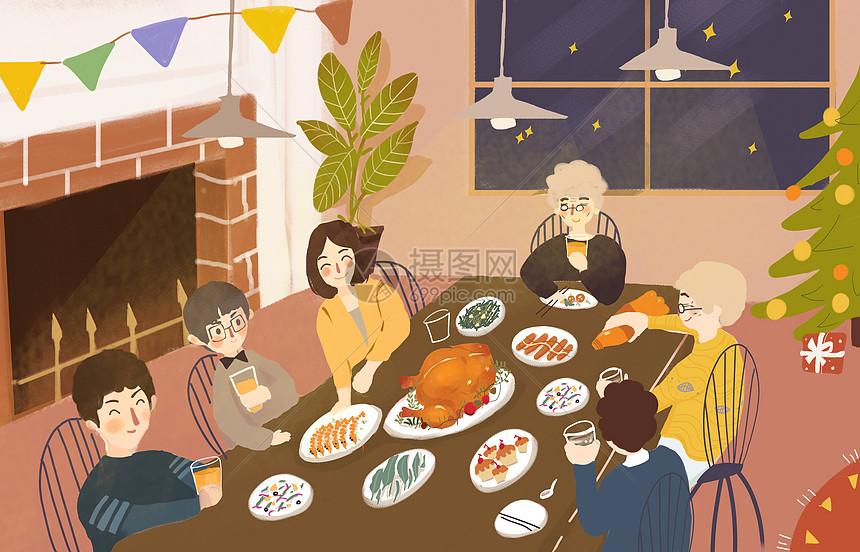 节日聚餐图片