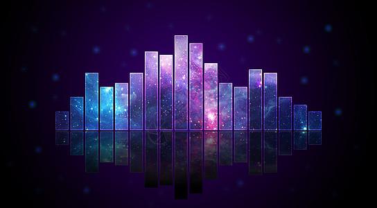 紫色科技音乐律动背景图片
