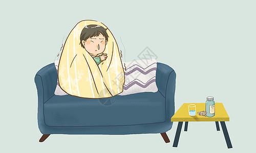 感冒发烧图片