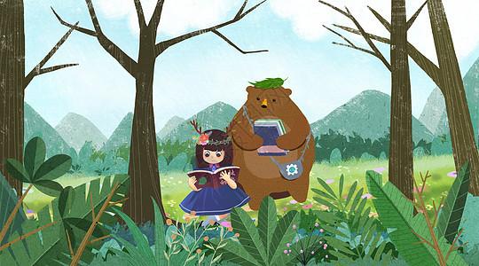 森林女孩图片