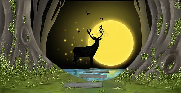 森林小鹿图片