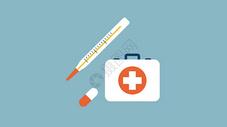 医护人员手拿医药箱图片