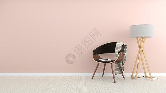 清新粉色家居背景图片