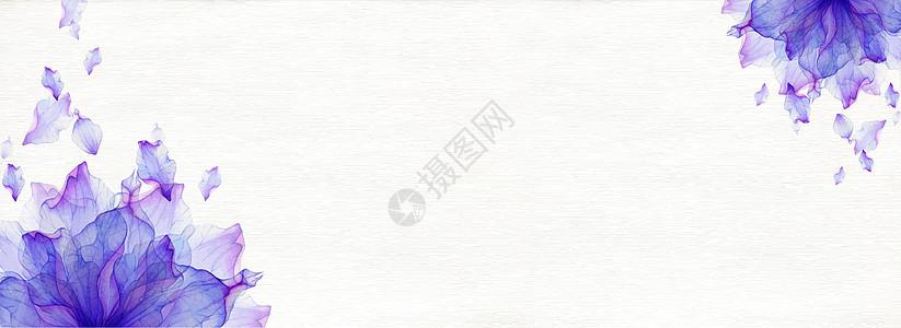 小清新蓝色花背景图片