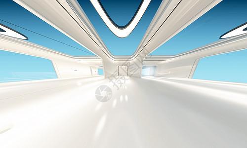 未来科技通道背景图片