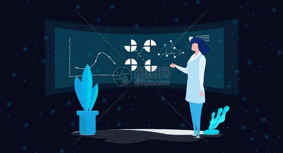 科技数据表格背景图片