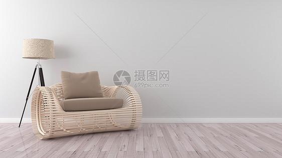 简约清新文艺家居背景图片