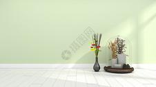 简约清新家居植物摆件家居背景图片