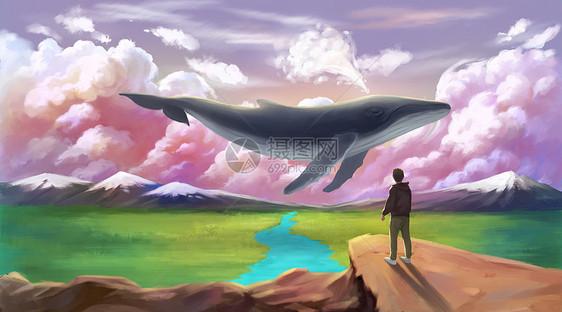 旷野上的鲸鱼图片
