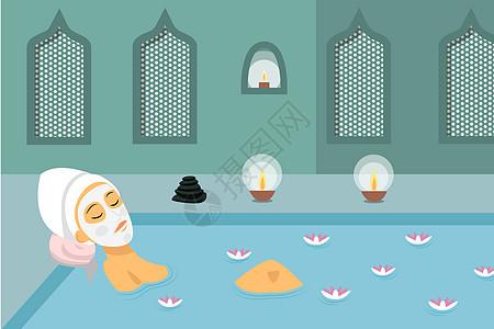 美容spa背景图片