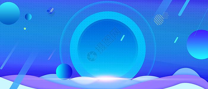 蓝色电商宣传商banner图片