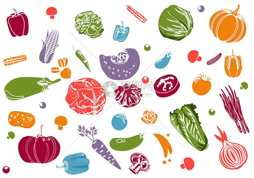 手绘蔬菜集合图片