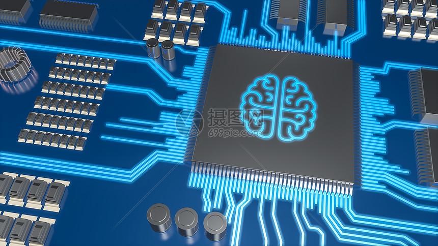 智能科技电路背景