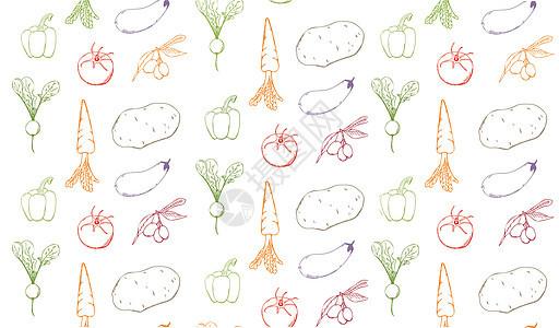 手绘水彩蔬菜图片