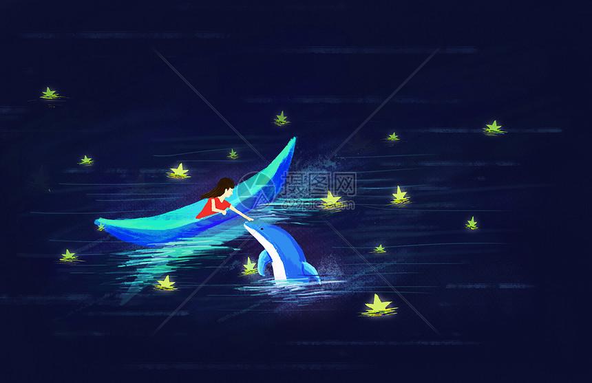 梦幻海洋小船图片