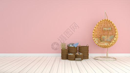 简约粉色系室内家居背景图片