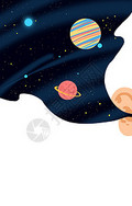 太空手绘插画图片