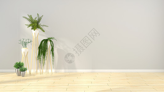 简约现代室内盆栽背景图片