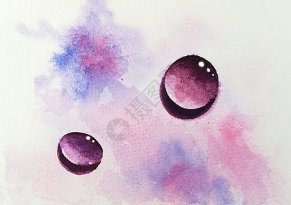 水彩水滴图片