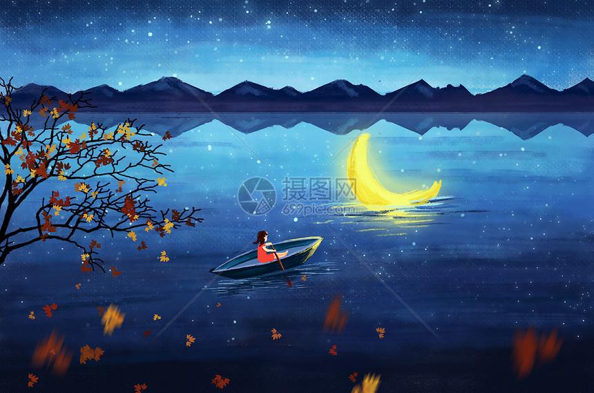 划船寻梦图片