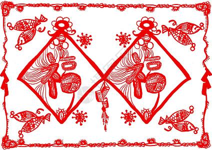 春节剪纸图片 春节剪纸素材 春节剪纸高清图片 摄图网图片下载
