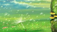 飞舞的蒲公英图片