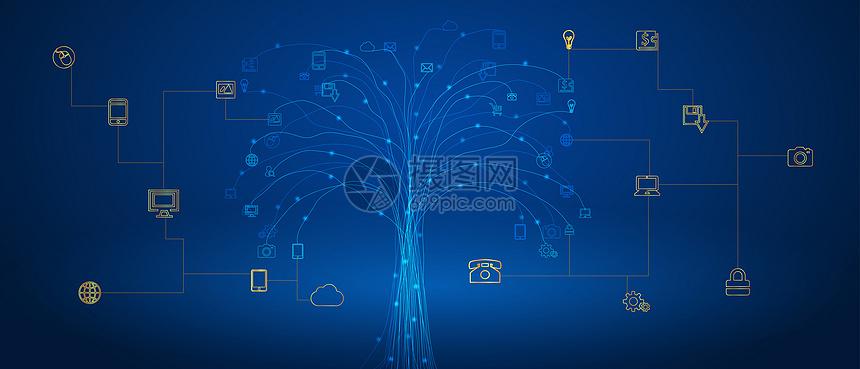互联网信息技术科技背景图片