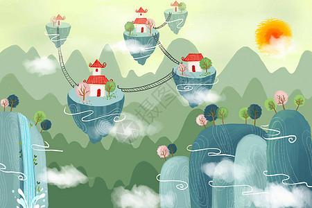 中国风云中仙境图片
