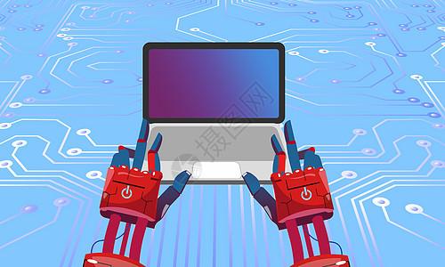 人工智能机器手臂图片