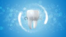 科技医疗牙齿背景图片