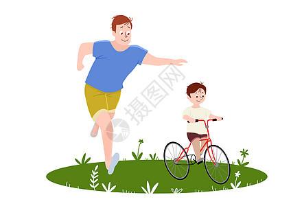 骑自行车图片