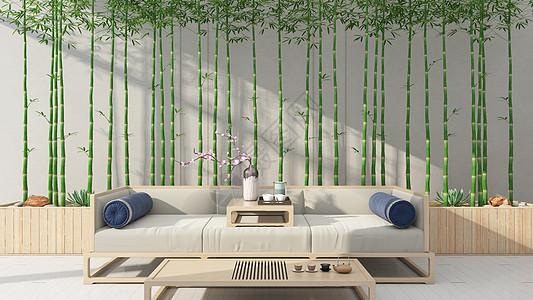 新中式简约室内家居背景图片