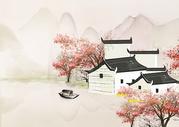 江南春水彩图片