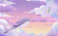 鲸鱼与小孩图片