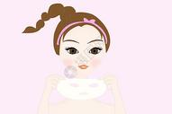 美容护肤插画图片