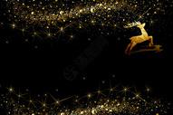 圣诞大气黑金背景图片
