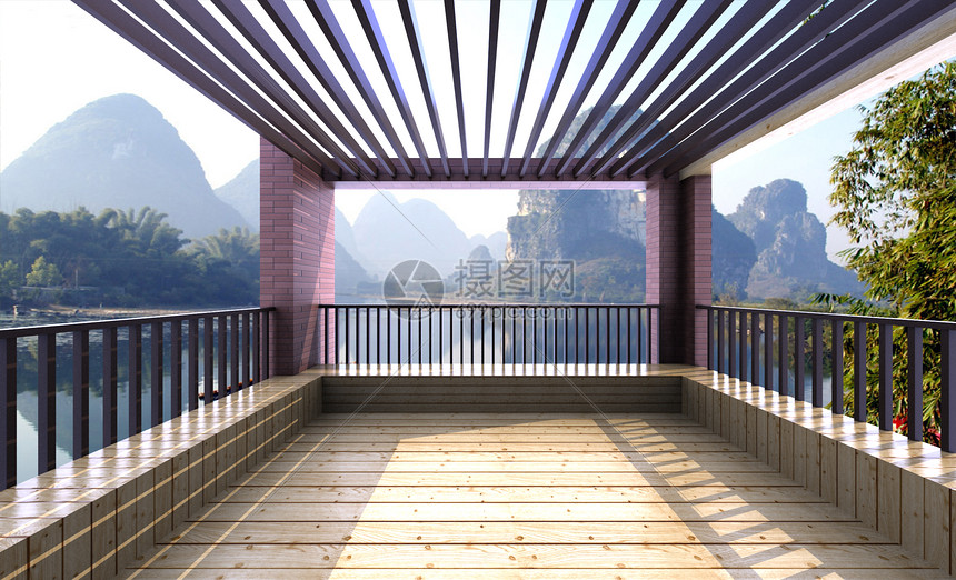亭台风景图图片