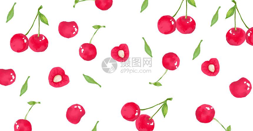唯美图片 餐饮美食 红樱桃背景psd