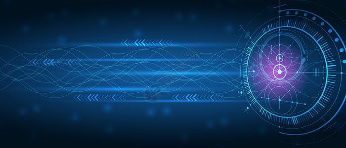 酷炫大气科技线条背景图片