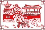 新年剪纸插画图片