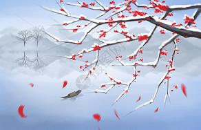 寒冬梅花图片