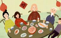 春节新年聚餐图片